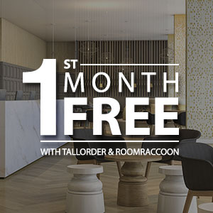Get TallOrder and RoomRaccoon FREE for the First Month!